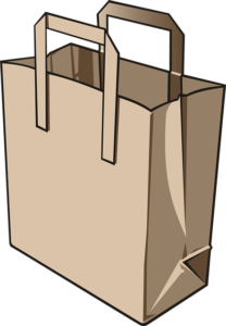 vector image of a paper bag